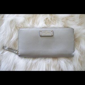 Kate Spade light gray wallet